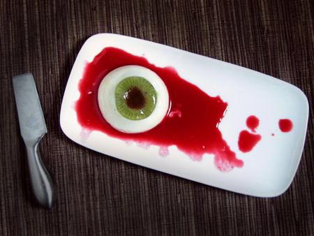 Как сделать панакоту в виде глаза на Хэллоуин?