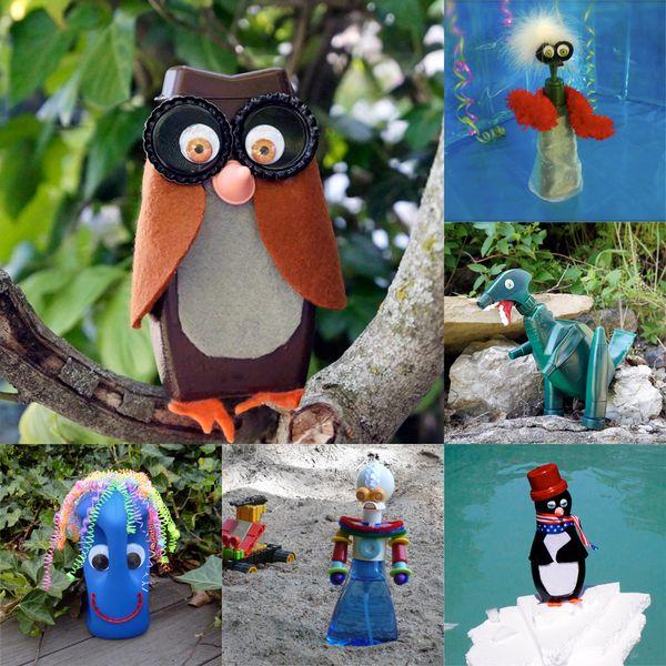 Как делать игрушки и фигурки для дачи и сада из пластиковых бутылок