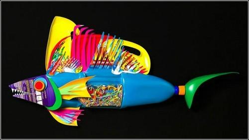 рыбка из пластиковых бутылок
