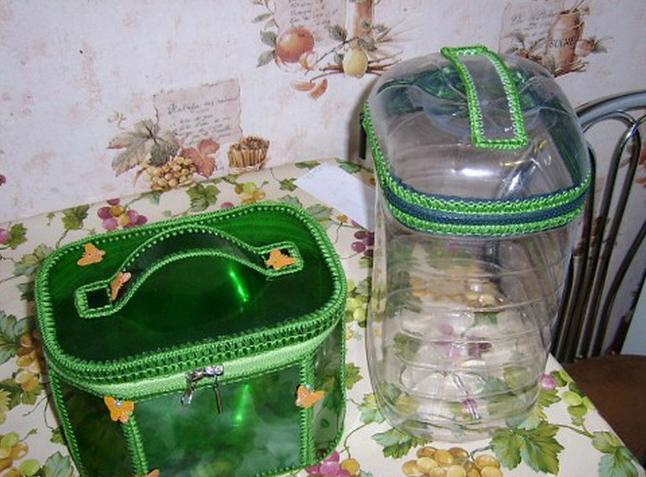 сундучки из пластиковых бутылок