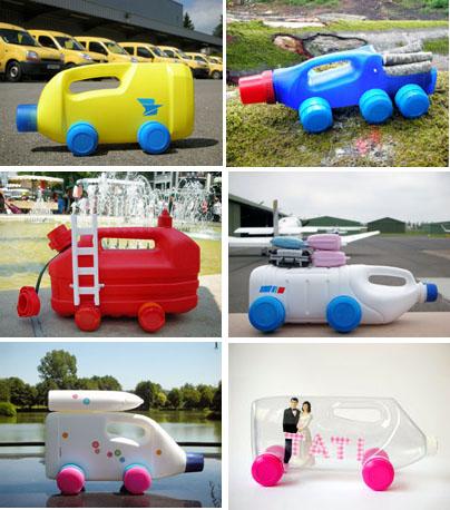 машинки из пластиковых бутылок