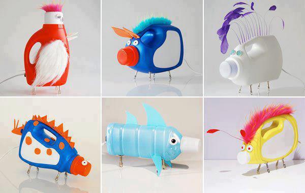 звери и птицы из пластиковых бутылок
