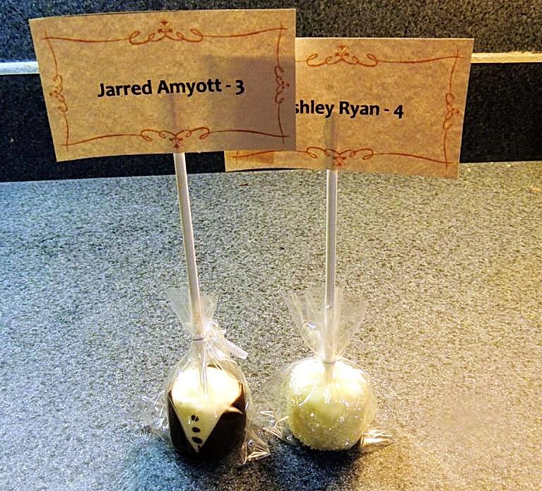 Как сделать сладкие карточки для рассадки гостей на свадьбу (жених и невеста)