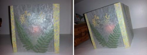подсвечники-плафоны из вощеной бумаги с цветами для свечей