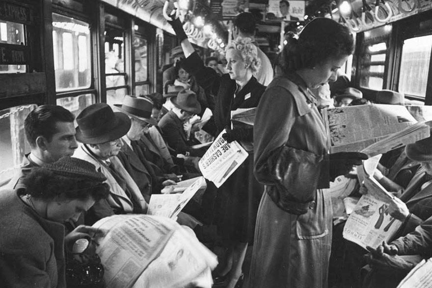 Нью-Йоркская подземка 1946-го глазами 17-го Стэнли Кубрика: мужчины после войны