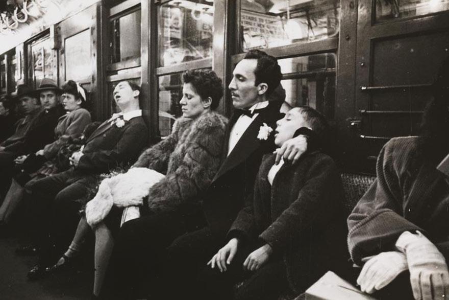 Нью-Йоркская подземка 1946-го глазами 17-го Стэнли Кубрика: аристократы в метро