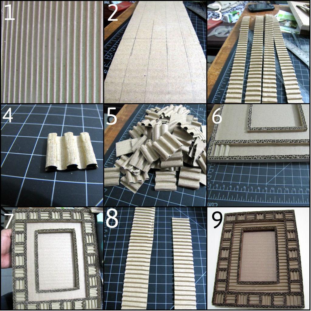 Первый вариант дизайна: рамка в рамке - пошаговая инструкция в картинках