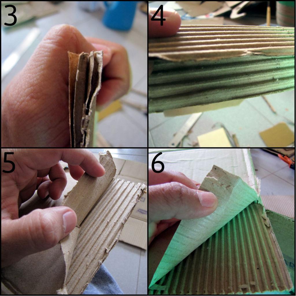 Как снять лишний слой бумаги с гофрированного картона