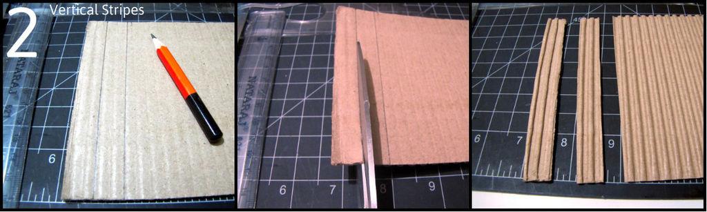 Нарезаем полосок по 1,3 см вдоль гофра