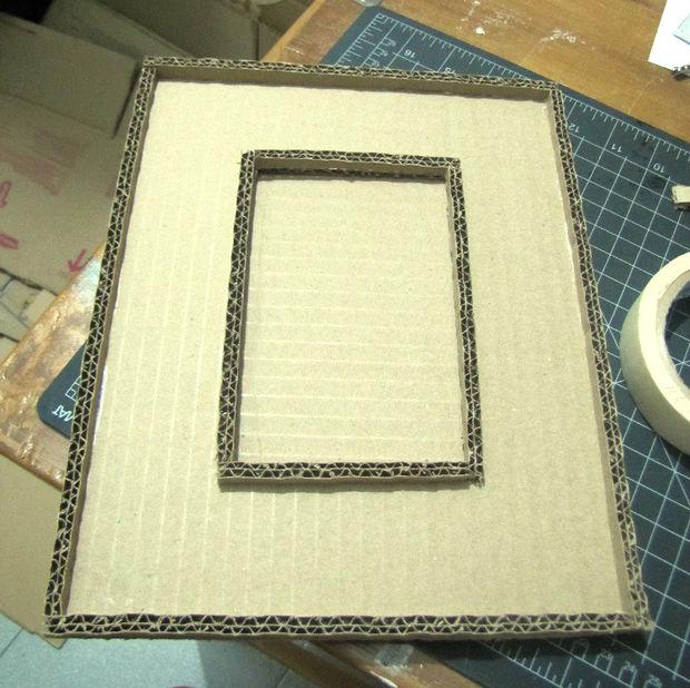Как из картона сделать основу под прямоугольную рамку любого дизайна