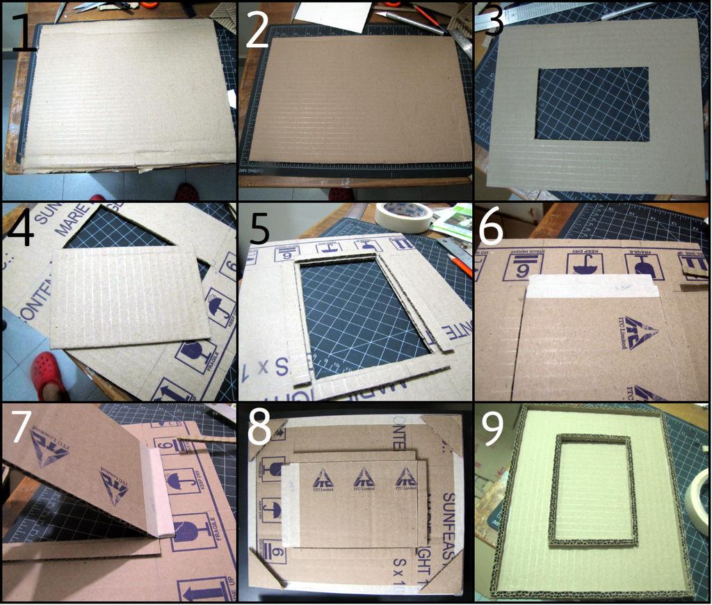 Здесь мы посмотрим, как создавать основу рамки с обеих сторон: это пригодится вам для многих разных конечных дизайнов - пошаговая инструкция в картинках
