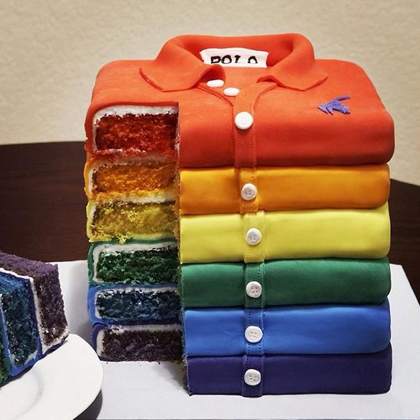 Торт-стопка рубашек поло