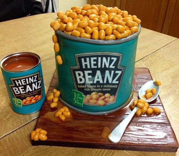 Торт-банка белых консервированных бобов Heinz