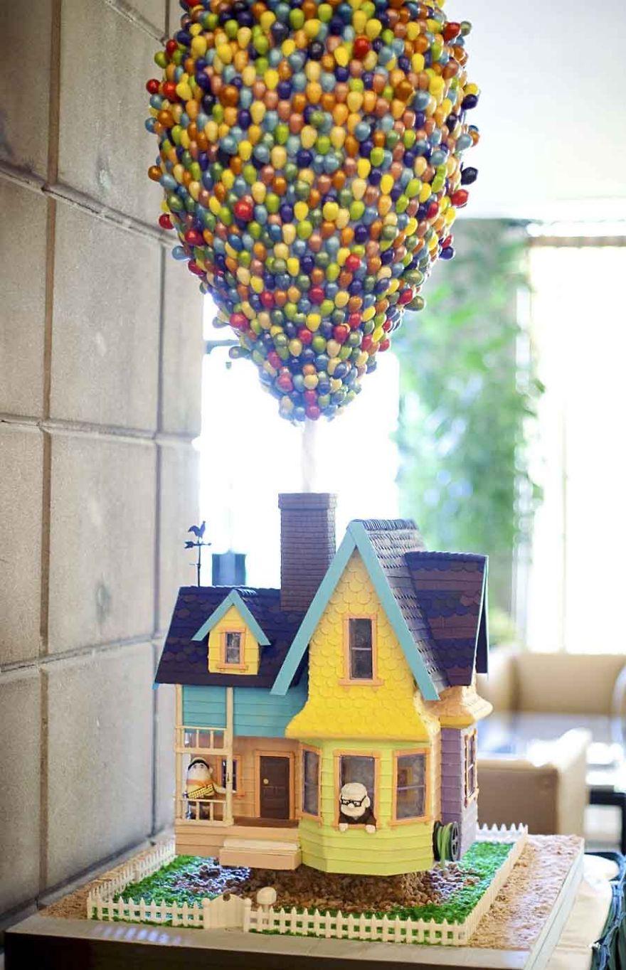 Дом, «летящий» на шариках. Из мультфильма «Вверх!» - торт