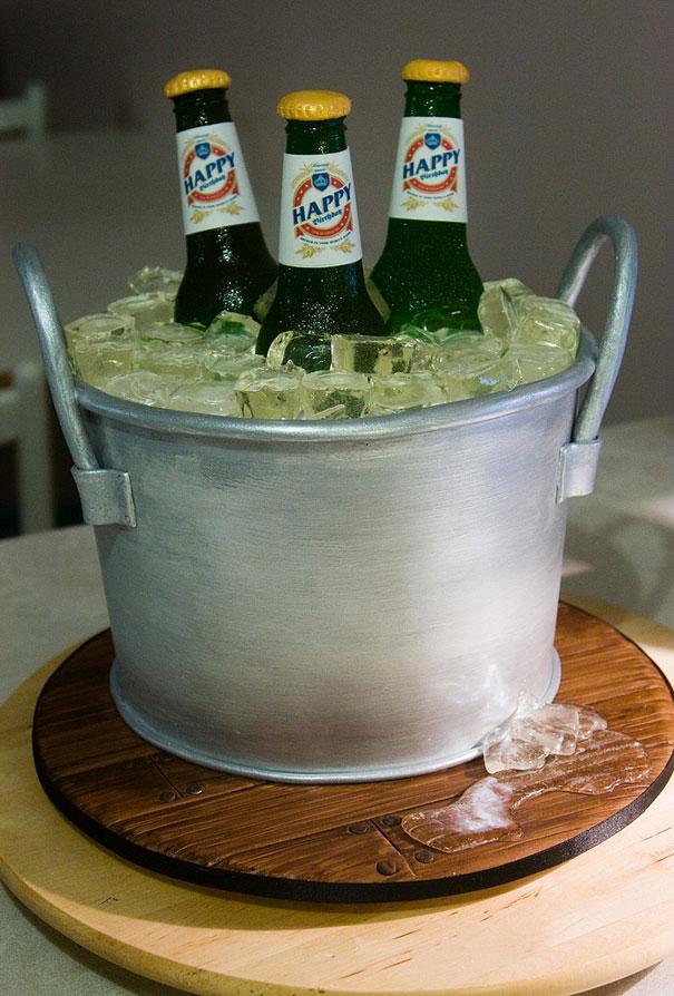 торт «Ведро с пивом»