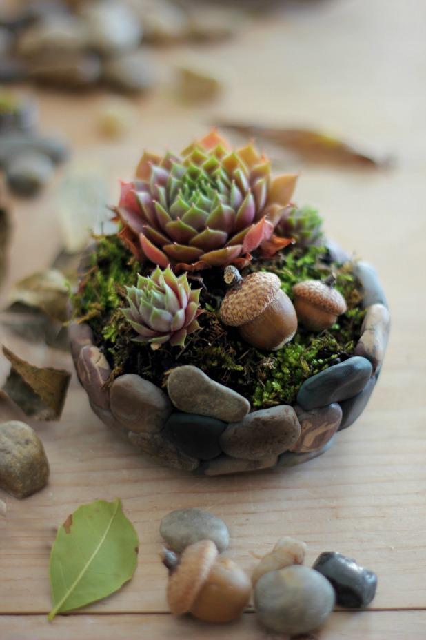 Как искусственные камни сделать реалистичными и слепить из них цветочный горшок