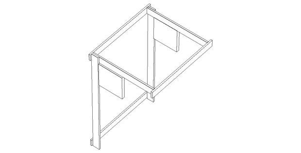 В другом варианте такого гамака вместо диагональных досок используются прямоугольные детали из фанеры или тоже досок