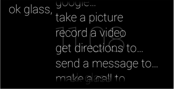 очки-компьютер Гугл Глас (Google Glass) дисплей команды записи видео