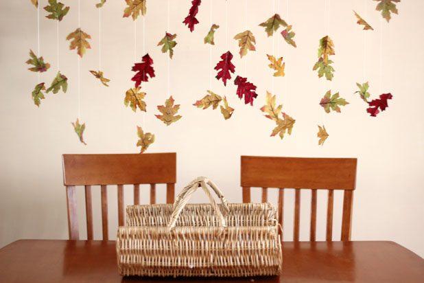 Готовая гирлянда из осенних листьев своими руками