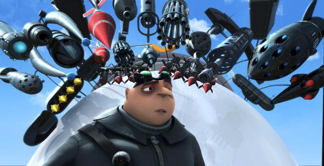 Гадкий я 2 (Despicable Me 2) кадры из мультфильма Грю и куча оружия