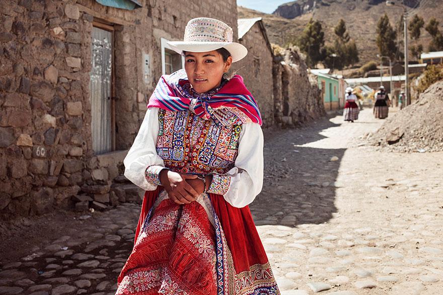 Атлас красоты, девушка из долины Колка, Перу