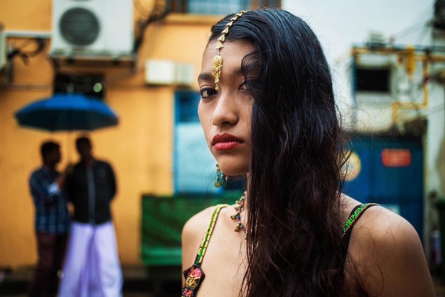 Атлас красоты, девушка из Маленькой Индии в Сингапуре