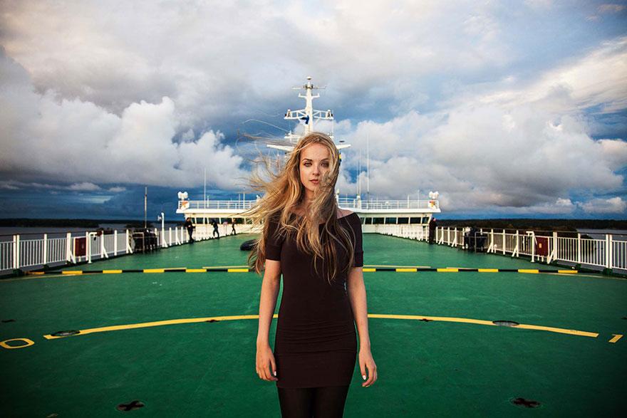 Атлас красоты, девушка на Балтийском море, Финляндия