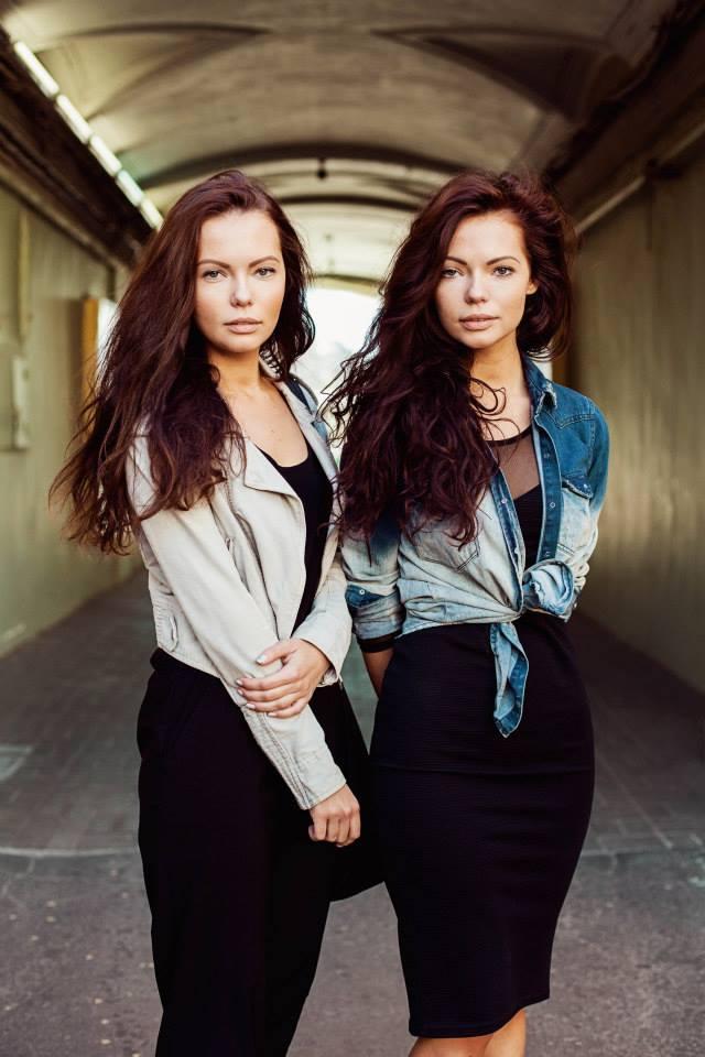 Атлас красоты, девушки близняшки из Санкт-Петерурга, Россия