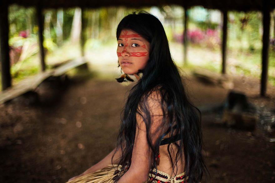 Атлас красоты, девушка из тропических лесов, Амазония