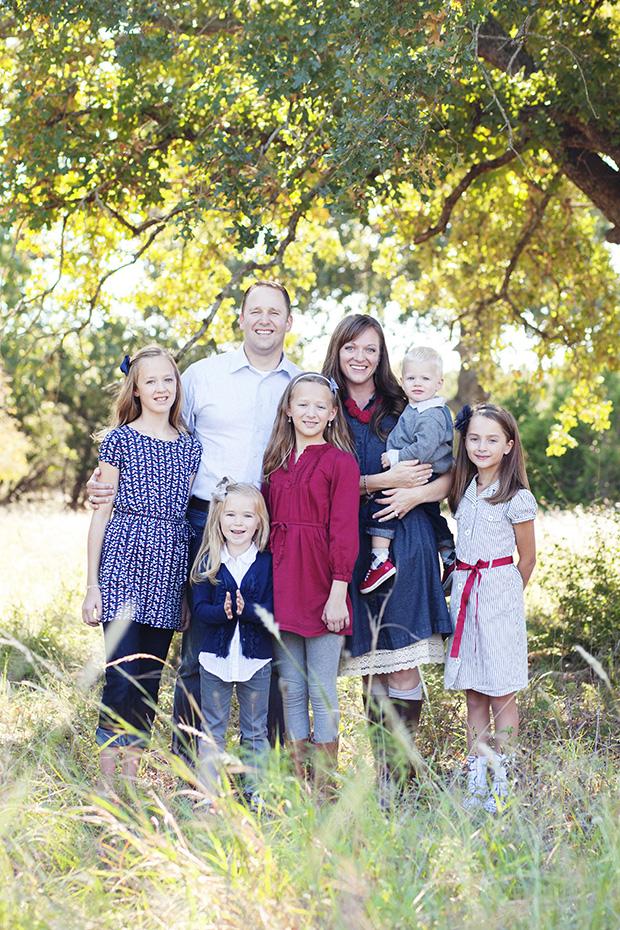 семейный снимок стоя