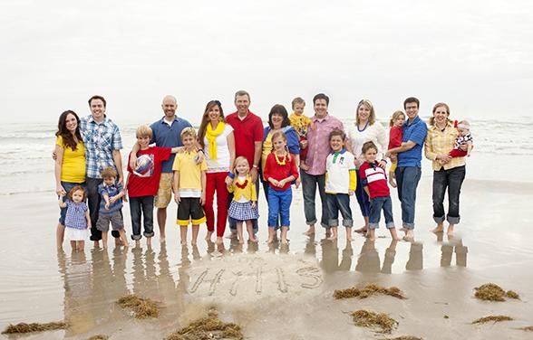 групповая фотография отдельных семей из дома отдыха