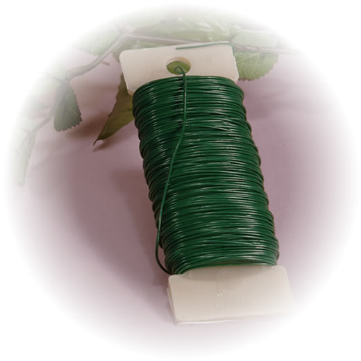 Моток зеленой флористической проволоки