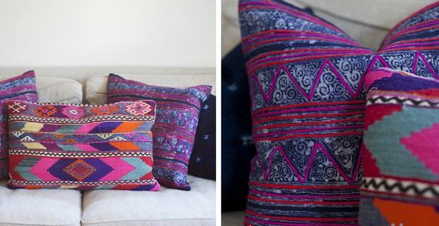 Комбинируйте схожий по стилю (имеется в виду стиль расцветки) текстиль