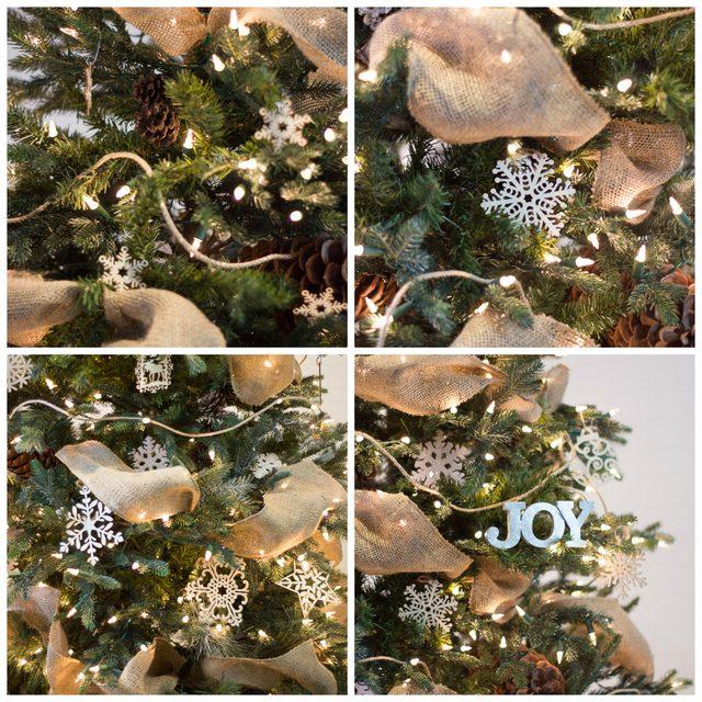 Далее наряжаем елку, как обычно, начиная с мелких игрушек на верхушку елки и далее вниз, постепенно увеличивая размер и вес игрушек