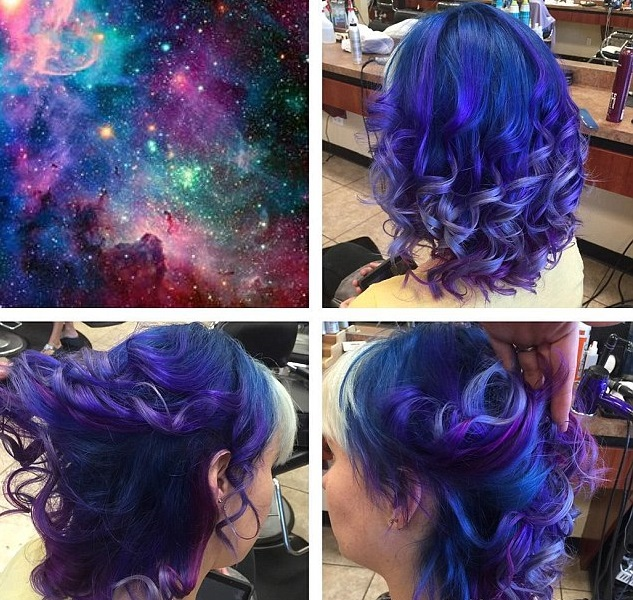 Как выглядит новый тренд в окрашивании – «Галактические волосы» (Galaxy hair)