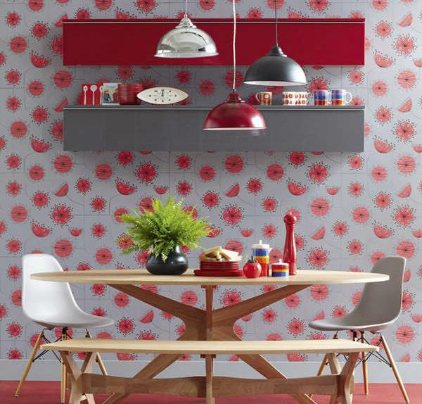 Красный на кухне провоцирует аппетит