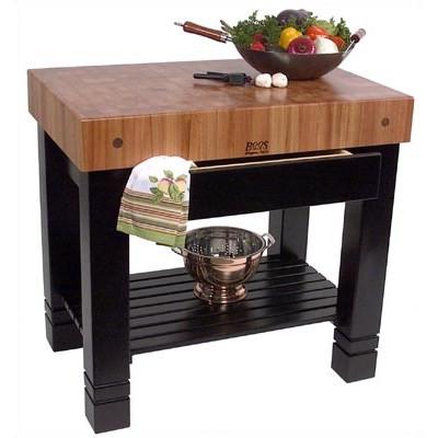отдельный массивный деревянный столик для нарезки пищи