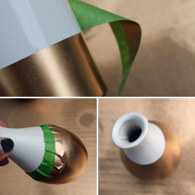 Как обновить интерьер к лету: новые золотые вазы из обычных белых