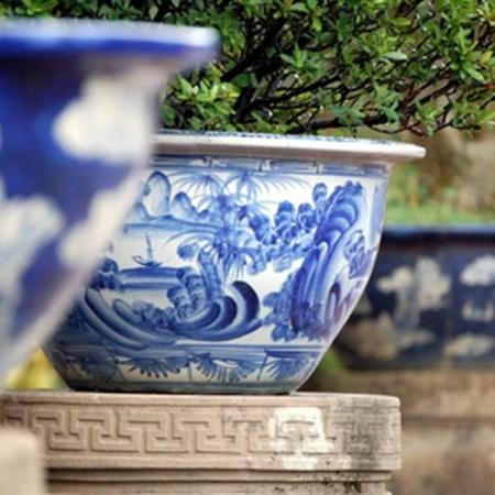 Прекрасно смотрятся вазы/декоративные горшки под вечнозеленые кустарники