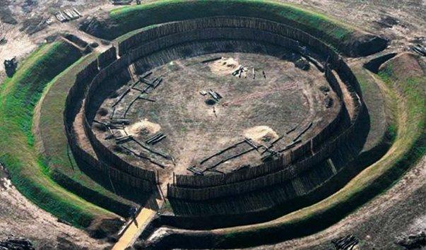 Гозекский круг в округе Бургенландкрайс, Германия - древняя обсерватория
