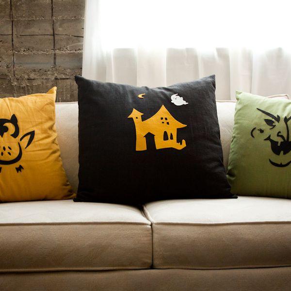Хэллоуин украшения и декор: декоративные подушки