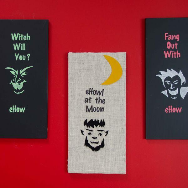 Хэллоуин украшения и декор: меловые доски