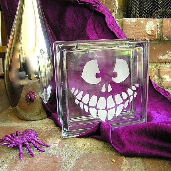 Хэллоуин украшения и декор: матирование по стеклу