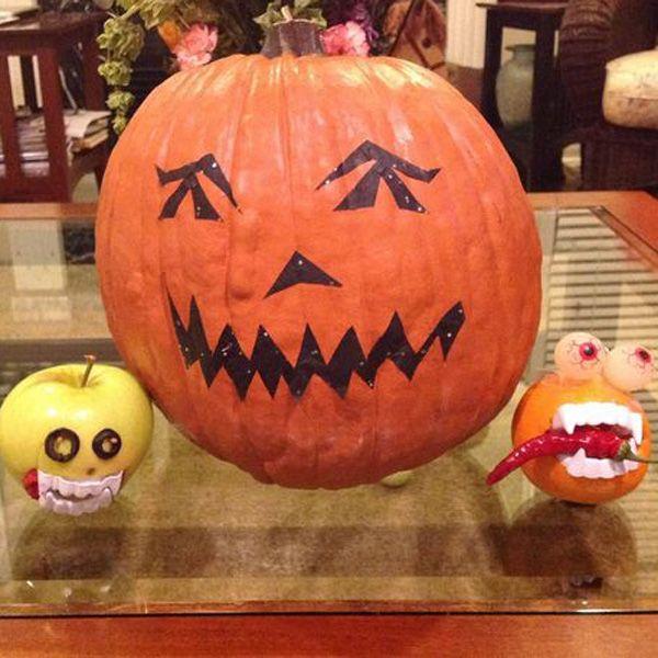 Хэллоуин украшения и декор: декупаж по искусственным тыквам