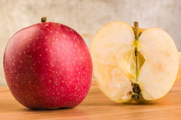 прозрачные зоны на мякоти яблока
