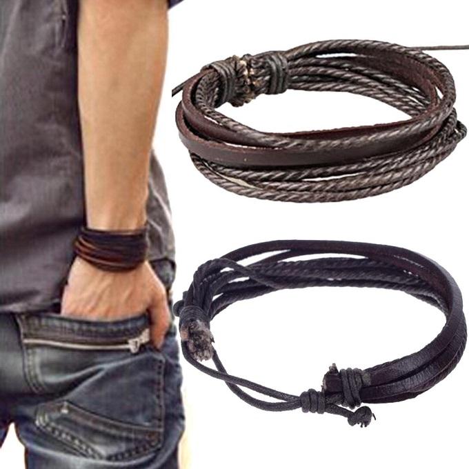 Как выглядят рукодельные подарки, интересные вашим близким: мужской кожаный браслет