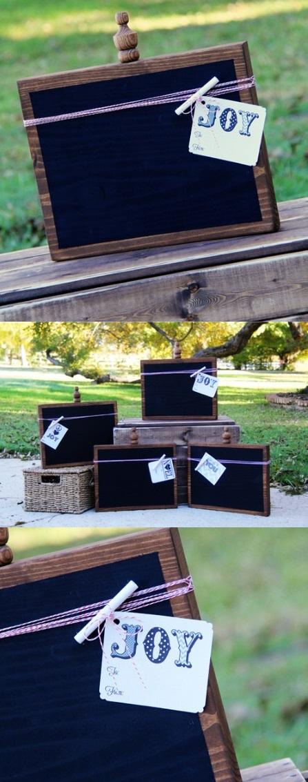 Как выглядят рукодельные подарки, интересные вашим близким: меловые доски для записей - сделаны при помощи специальной краски или пленки