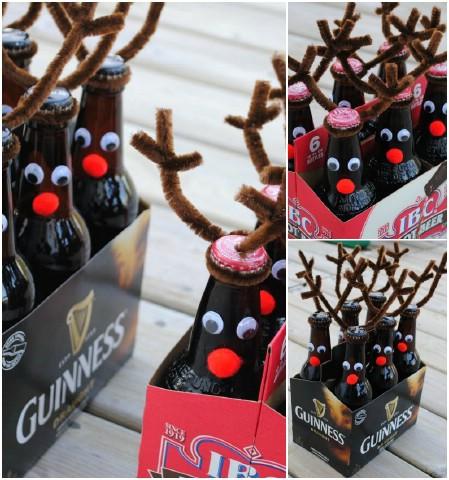 Как выглядят рукодельные подарки, интересные вашим близким: смешно и тематически декорированный ящик пива