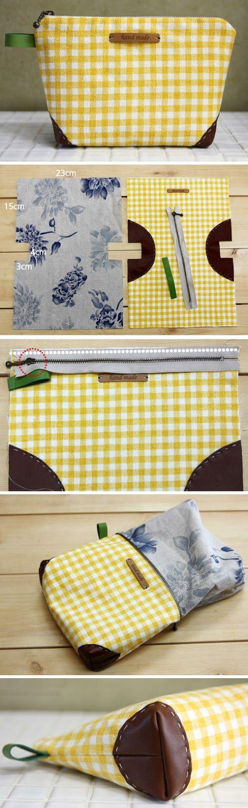 Как выглядят рукодельные подарки, интересные вашим близким: трендовая рукодельная косметичка - пошаговая инструкция в картинках