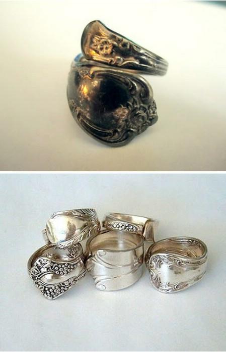 Как выглядят рукодельные подарки, интересные вашим близким: кольцо из старинной серебряной ложки